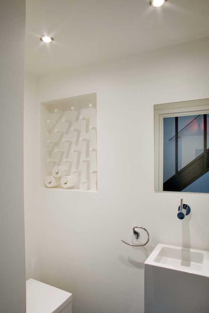 Ótima ideia para organizar os rolos de papel higiênico!