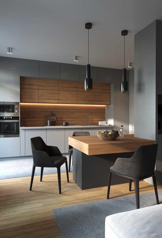 Cheia de estilo, essa mesa de parede prova como os móveis multifuncionais ganharam em design nos últimos tempos