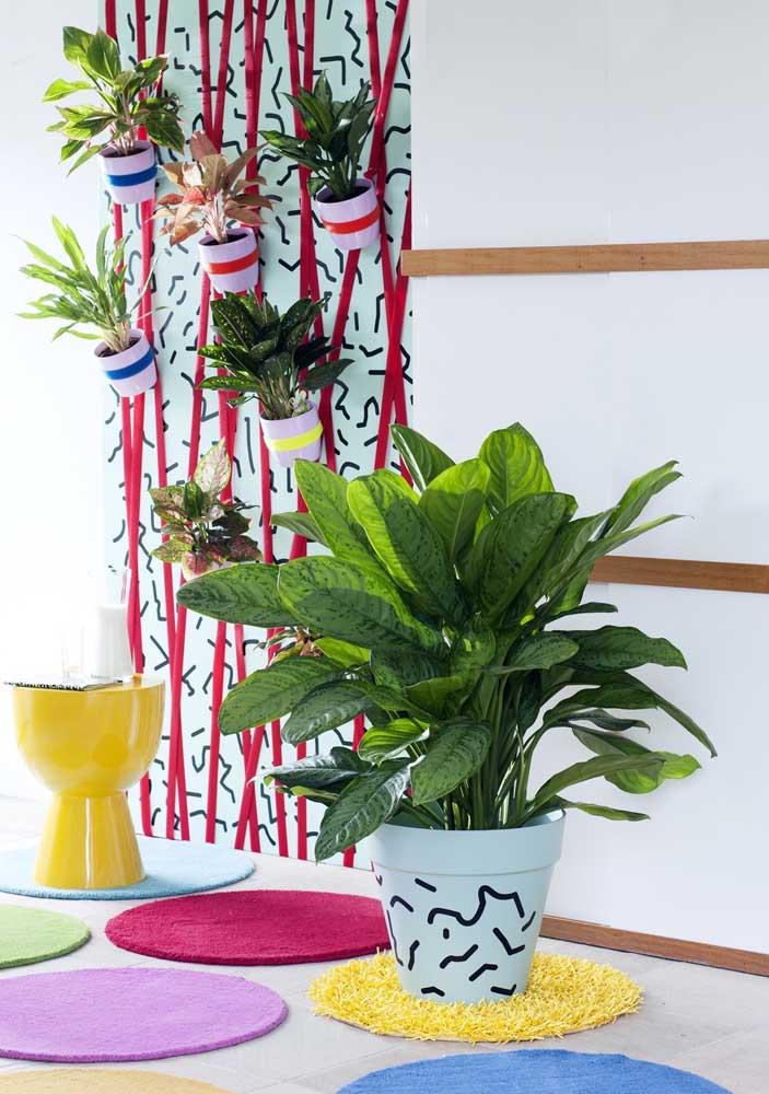 A Aglaonema produz folhas em abundância, perfeitas para encher ambientes de cor