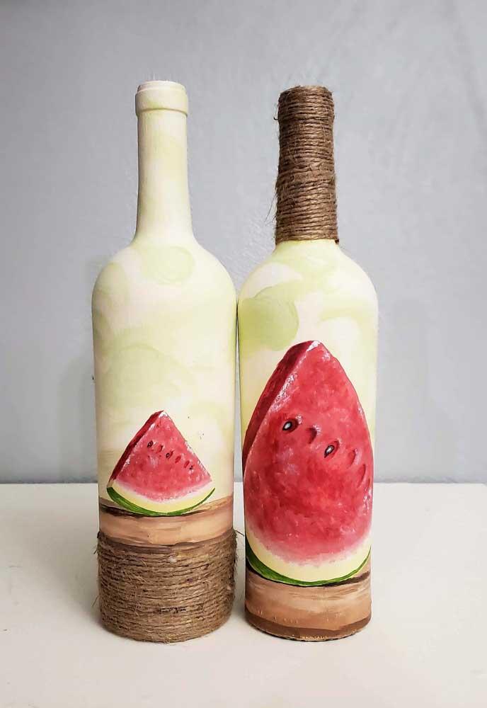 Quando a garrafa vira uma tela, você se transforma em artista