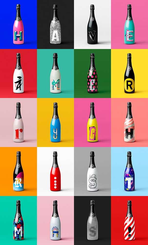 Um alfabeto inteiro de garrafas decoradas para você escolher