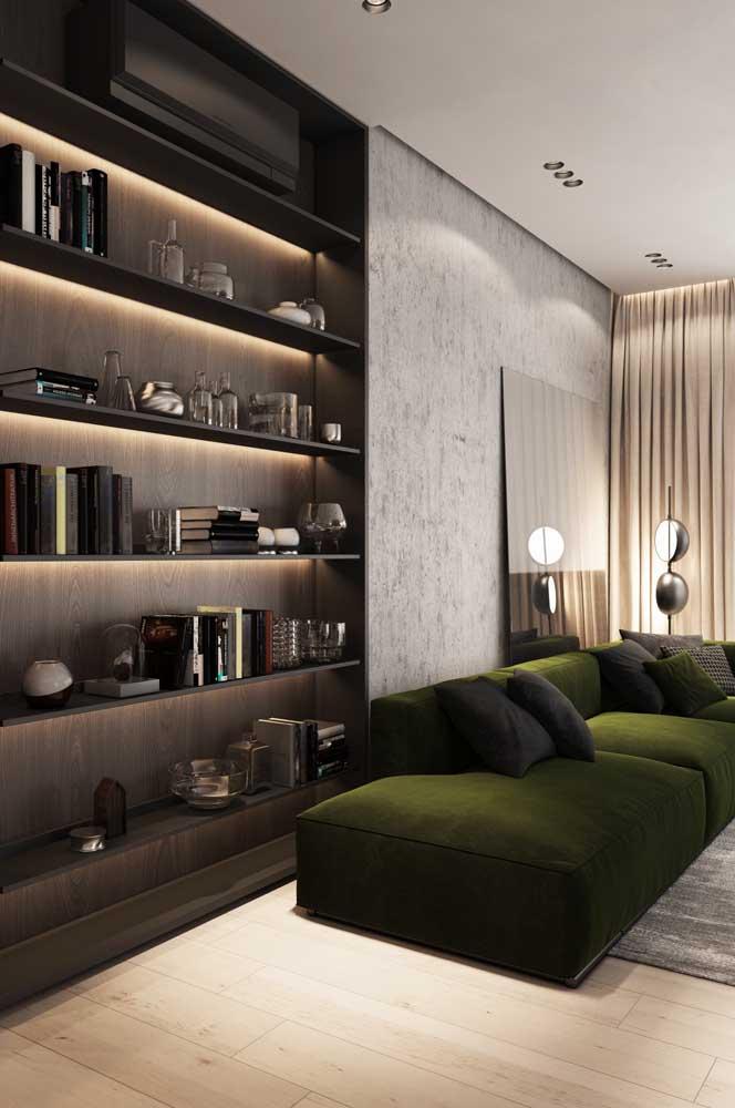 Sofá verde musgo: a opção certa para quem deseja unir conforto com elegância e sofisticação