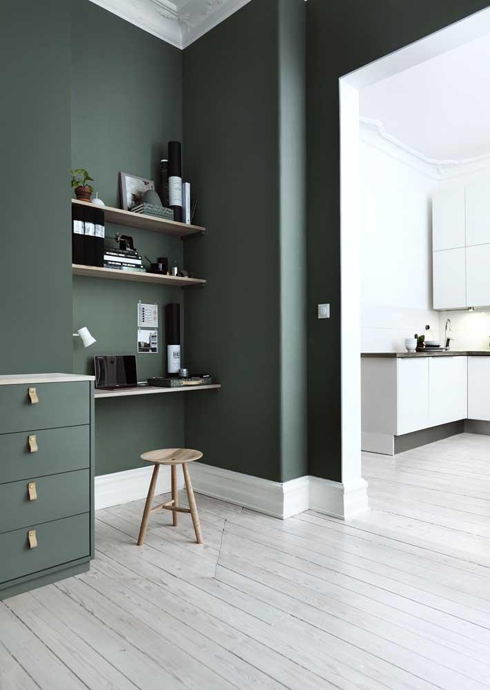 O frescor e a suavidade que só o verde e o branco trazem ao ambiente