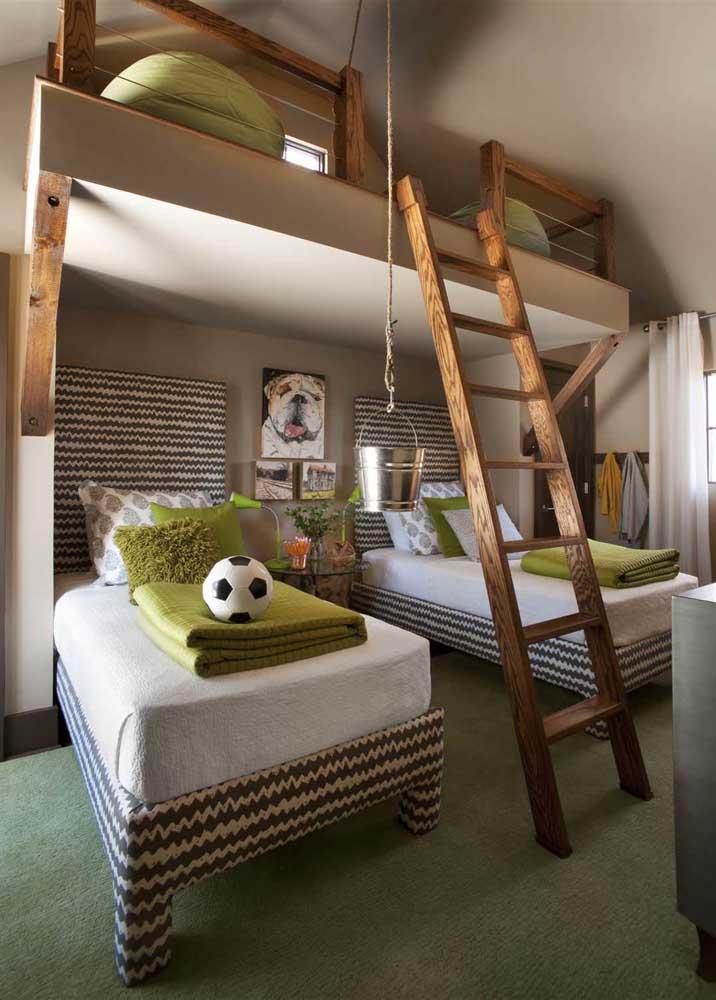 No quarto juvenil, o tom mais quente de verde musgo traz vida e energia