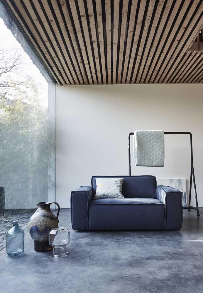 Os mais modernos e minimalistas também podem contar com o charme confortável da namoradeira