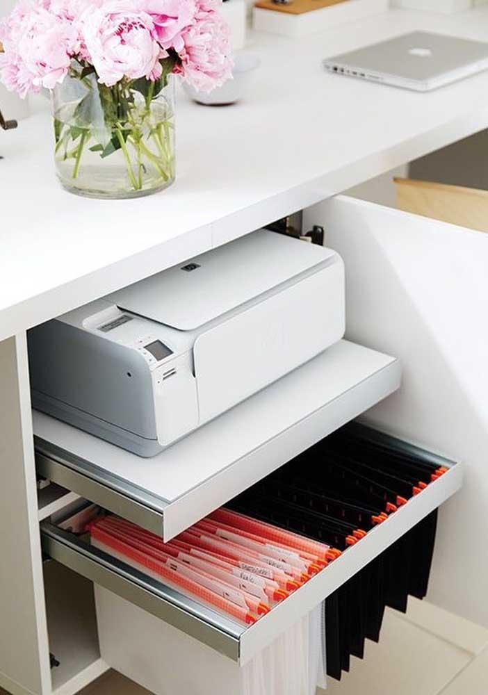 Modelo de gavetas especiais para facilitar a organização de arquivos do escritório