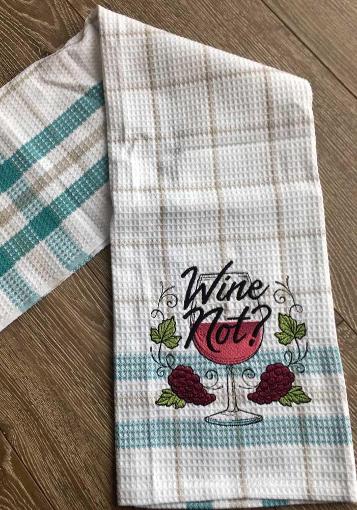Um bordado especial para os fãs de vinho
