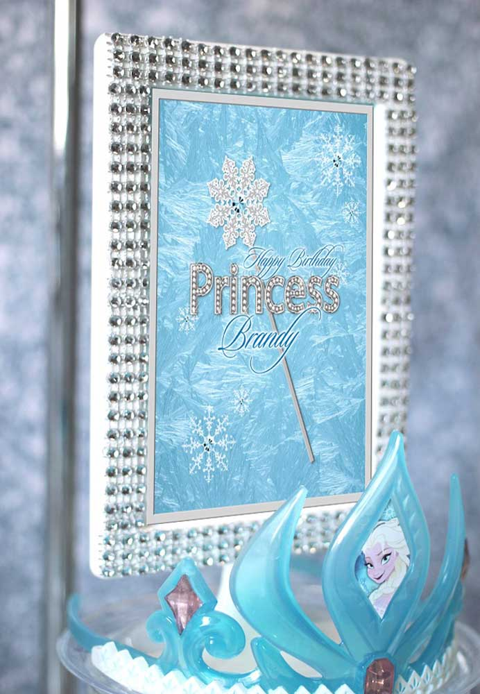 Que belo quadro para mostrar como a aniversariante é uma linda princesa.