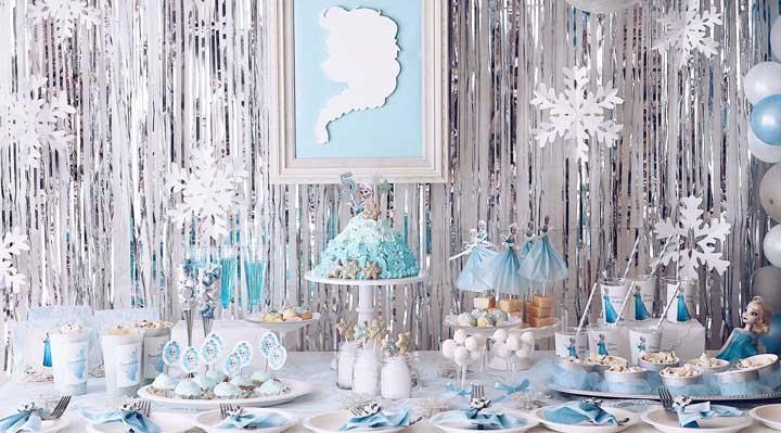 Festa Frozen: como organizar, o que servir e fotos de decoração