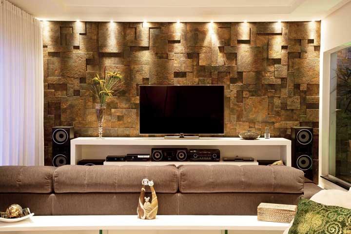 Salas pequenas também podem se beneficiar da beleza da Pedra ferro