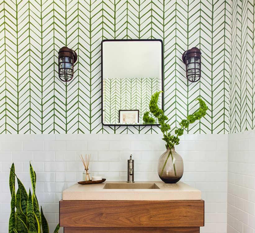 Papel de parede para lavabo: 60 modelos pequenos, modernos e fotos