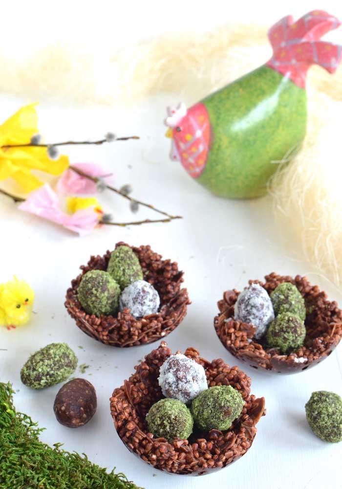 Ovos de Páscoa de chocolate ao leite crocante
