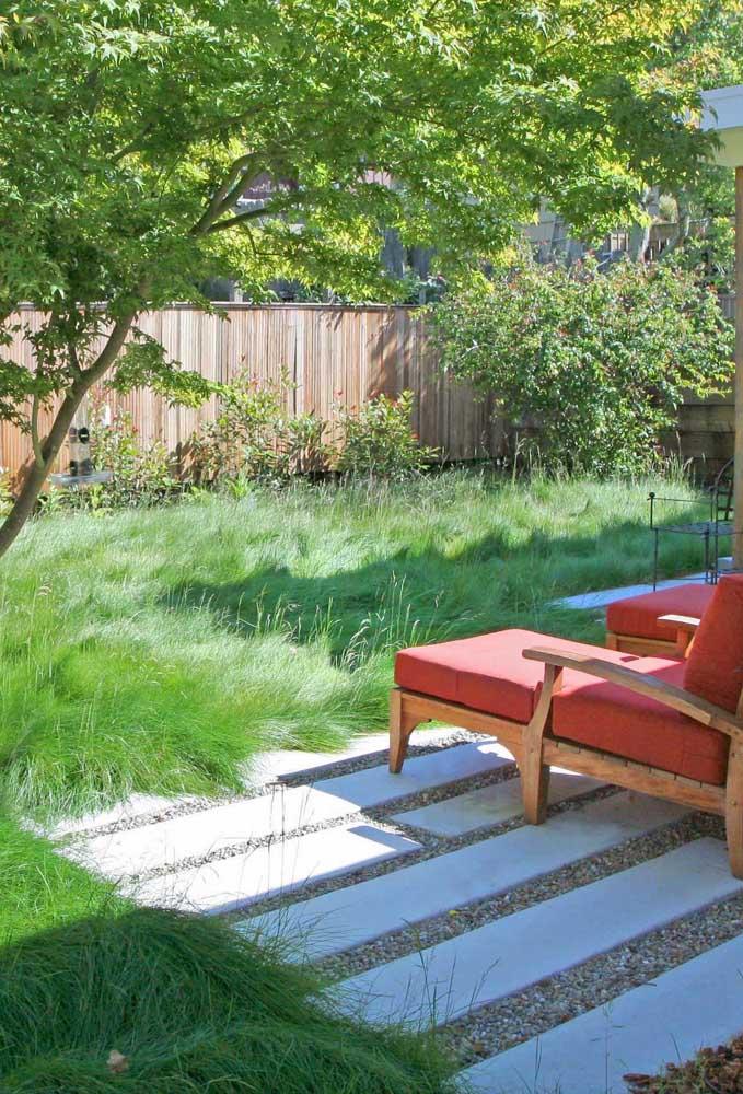 Um jardim para chamar de seu; é só chegar e contemplar