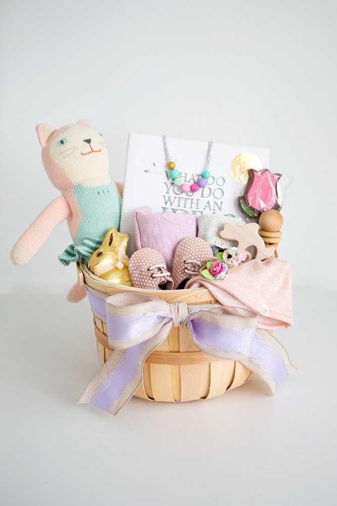 Modelo de cesta de Páscoa para bebês