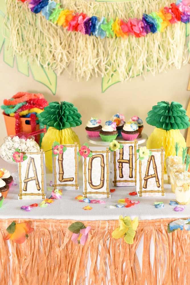 Aloha! A saudação havaiana mais conhecida não poderia ficar de fora da festa luau