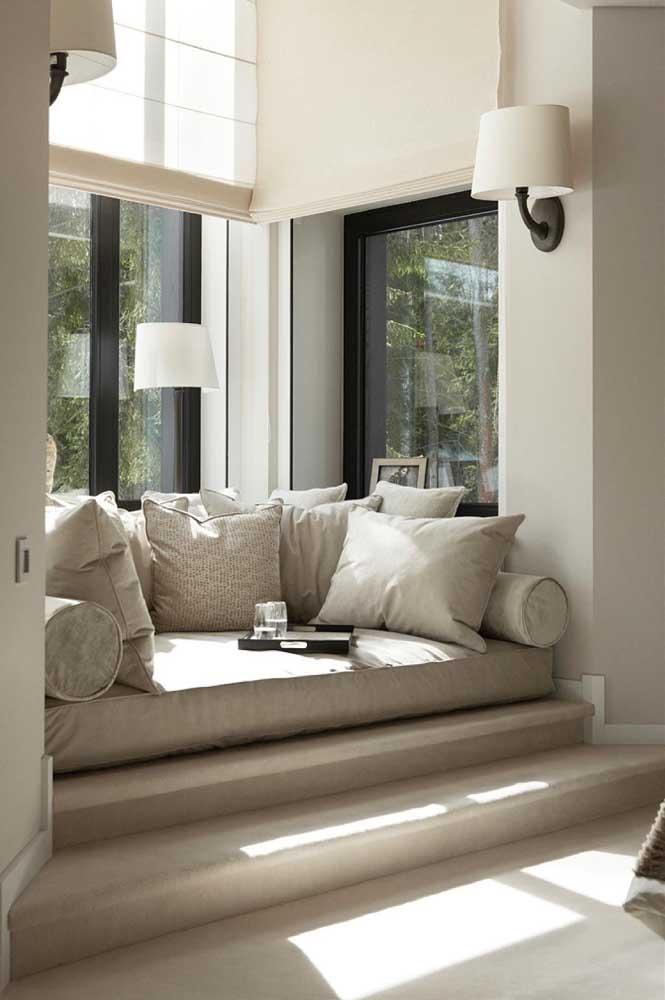 Mais que uma janela, um refúgio de paz e sossego dentro de casa, sem contar no toque extra de charme e elegância