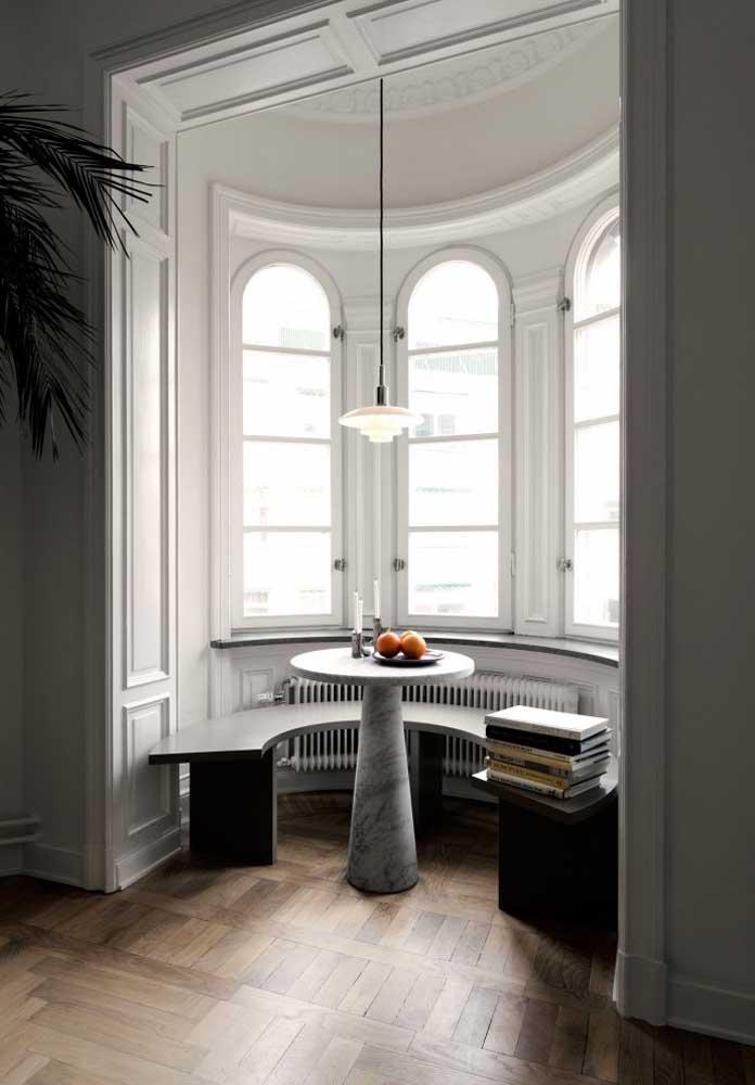 Bay Window clássica em formato arredondado