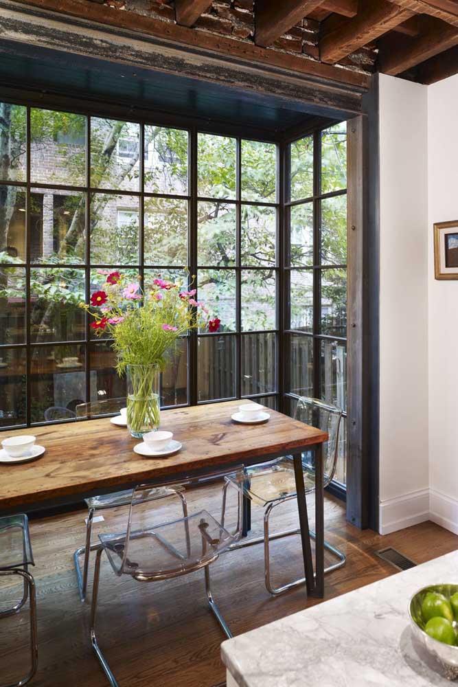 A Bay Window tem também a linda função de integrar ambientes internos e externos