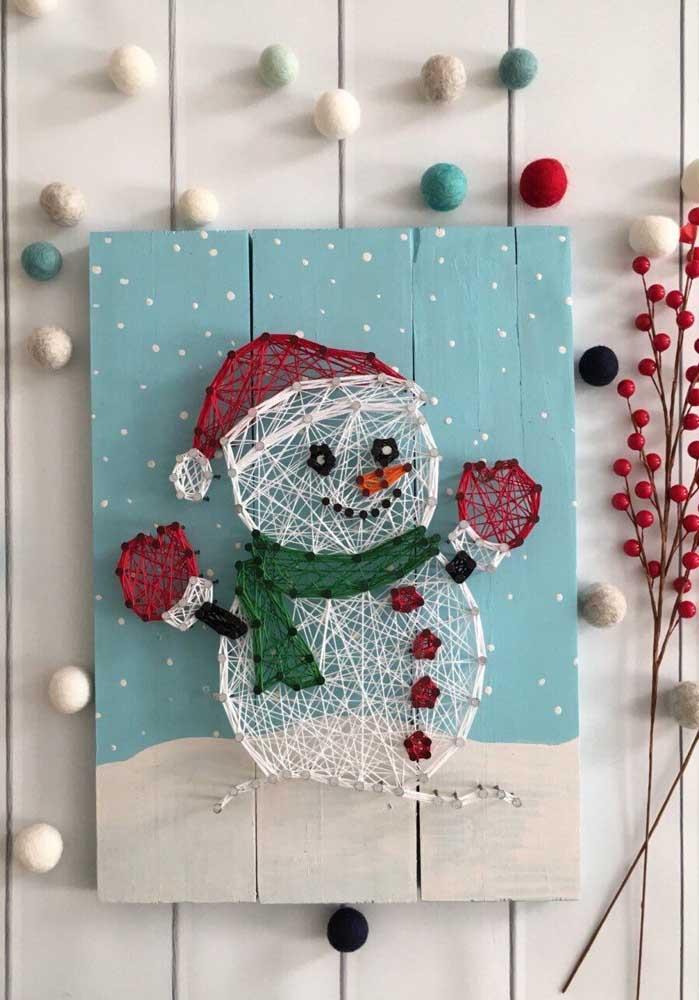 Linda opção de String Art de Natal
