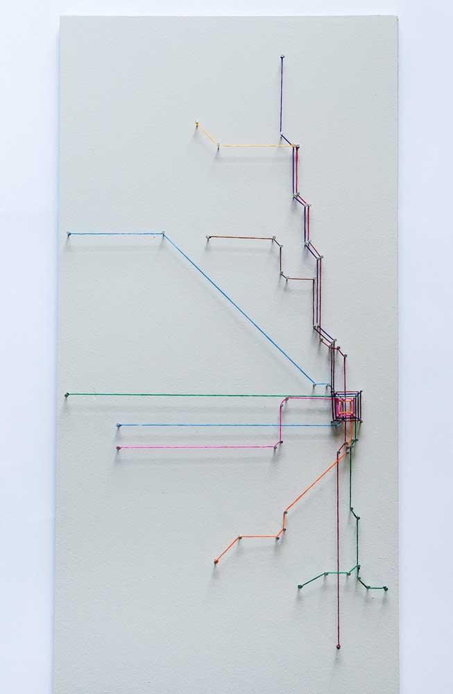 String Art abstrato: perfeito para ambientes corporativos e salas de estar modernas