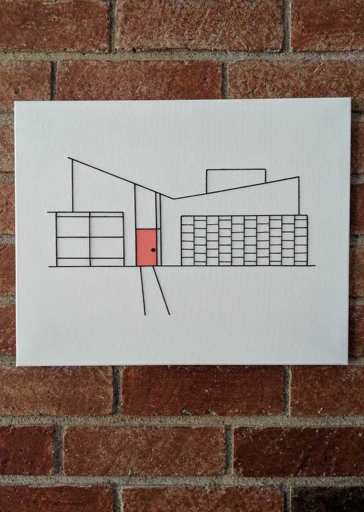 String Art para os fãs de arquitetura