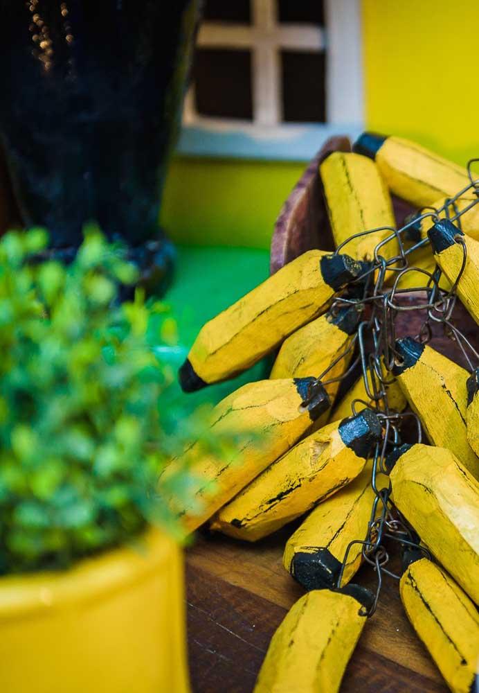 O que não pode faltar na festa dos Minions? Bananas, a principal alimentação dos personagens.