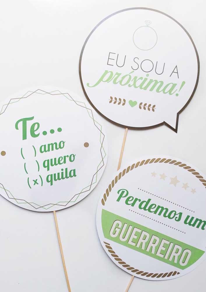 Plaquinhas de casamento divertidas, ideais para usar durante a festa