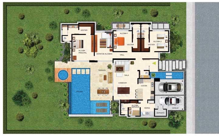 Plantas de casas modernas: modelos e fotos para você conferir