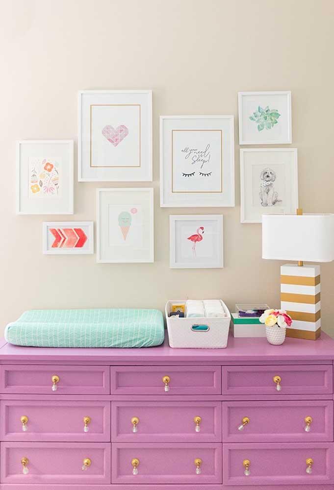 Os tons mais suaves do roxo deixam o ambiente mais delicado e são ideais para quartos de meninas.