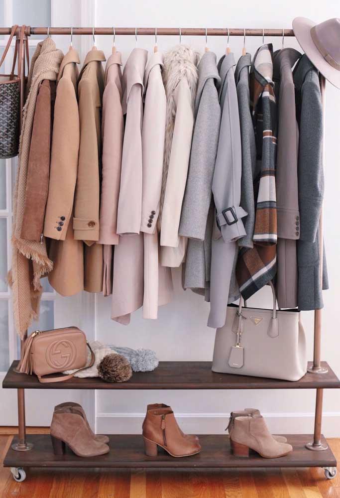 Inspiração de armário cápsula para o inverno