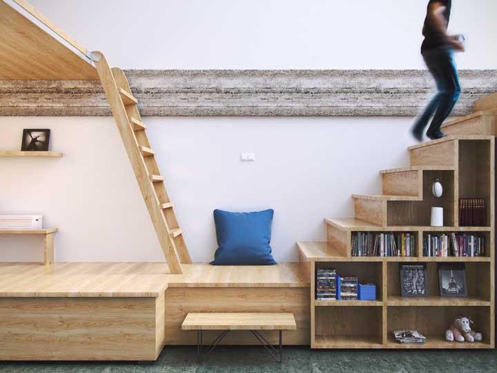 Embaixo da escada: 60 ideias para aproveitar mais o espaço