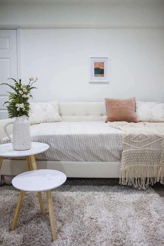 Derrube por terra o mito de que uma decoração branca é fria e impessoal