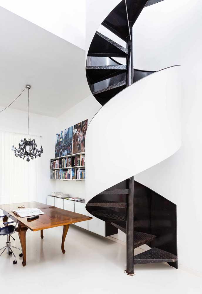 Mais uma vez o branco e o preto mostrando sua versatilidade e sofisticação