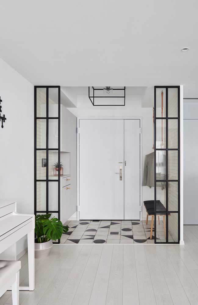 Quer uma decor minimalista? Então invista na cor branca na decoração com alguns toques de preto