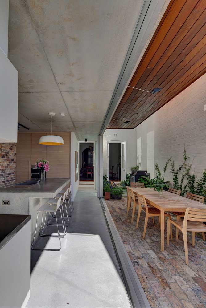 Cozinha integrada com espaço gourmet, melhor impossível!