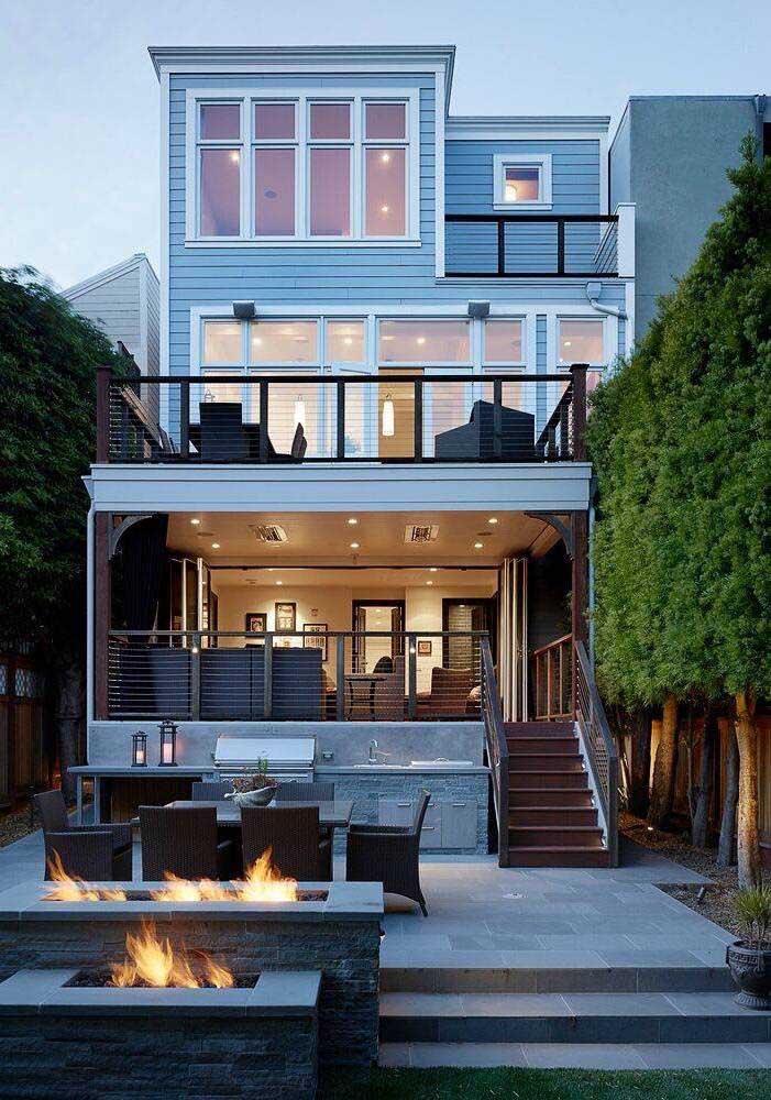 O piso para quintal cinza traz modernidade e elegância para a área externa