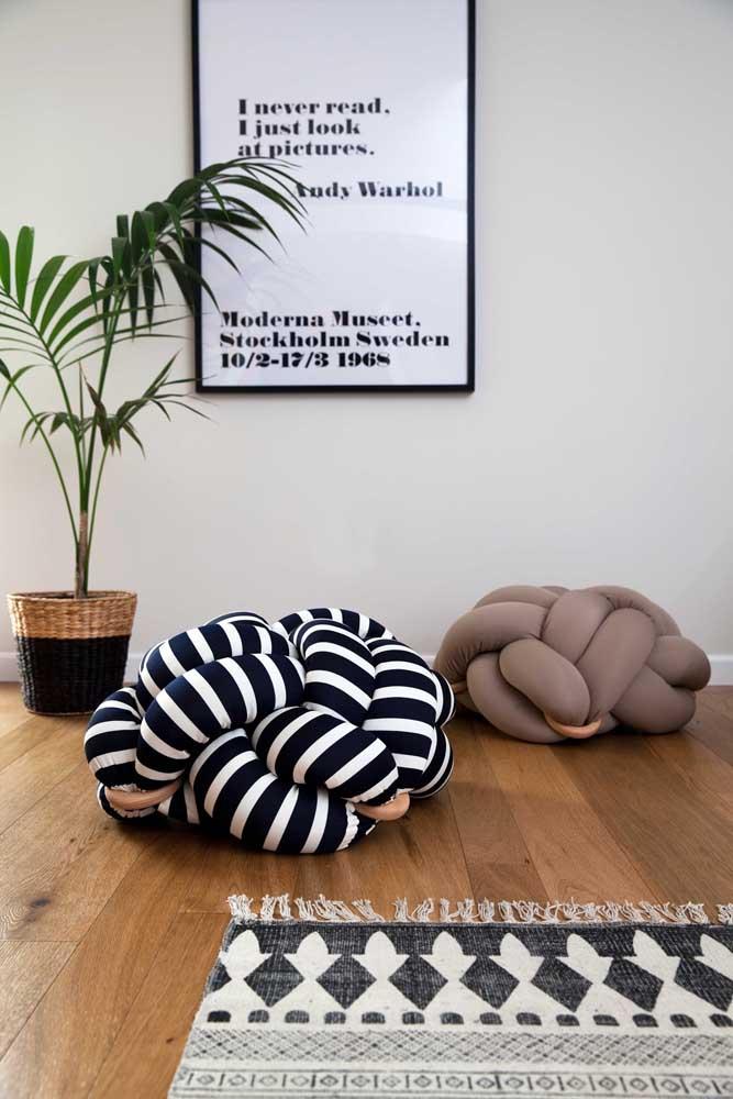 Puff nó: um modelo descontraído e moderno