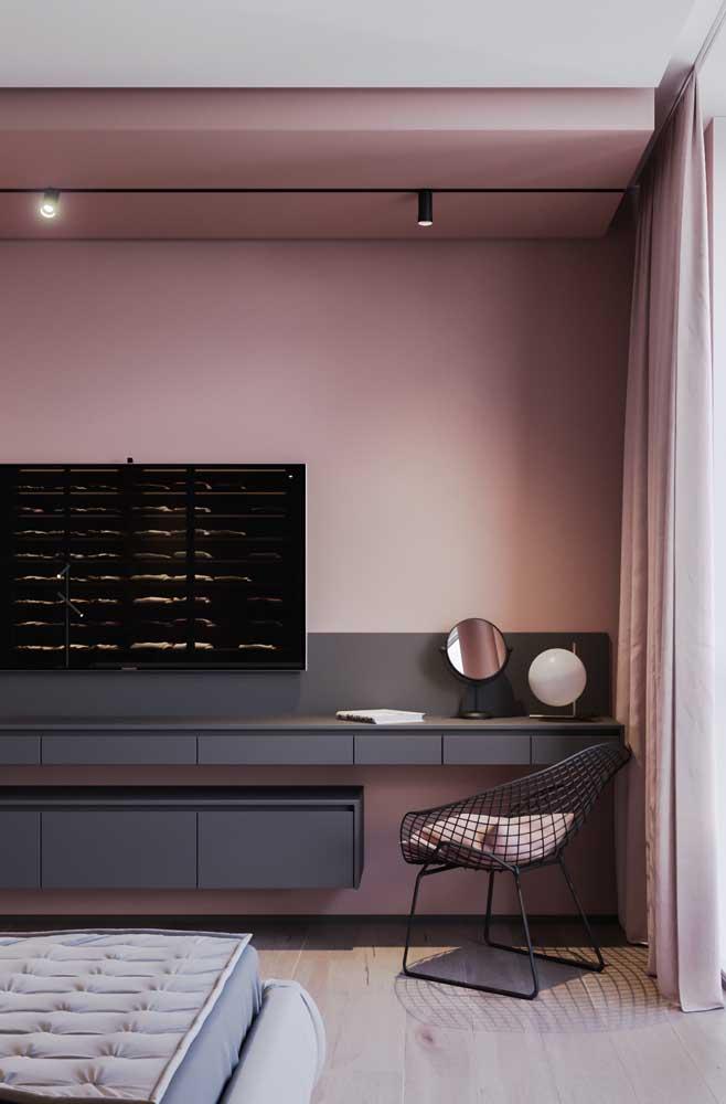 Cinza e rosa: uma combinação romântica, sem ser clichê