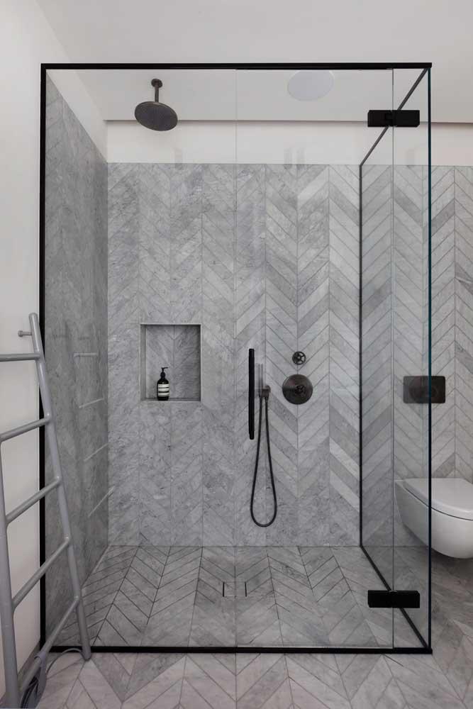 Quer criar um banheiro moderno? Então não tenha dúvidas aposte no cinza