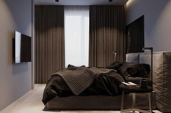 Cinza e marrom: uma dupla para quem deseja atingir o máximo de conforto e sobriedade na decoração