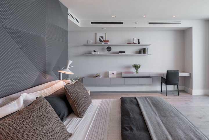 Aproveite da neutralidade do cinza para inseri-lo na decoração na companhia de texturas