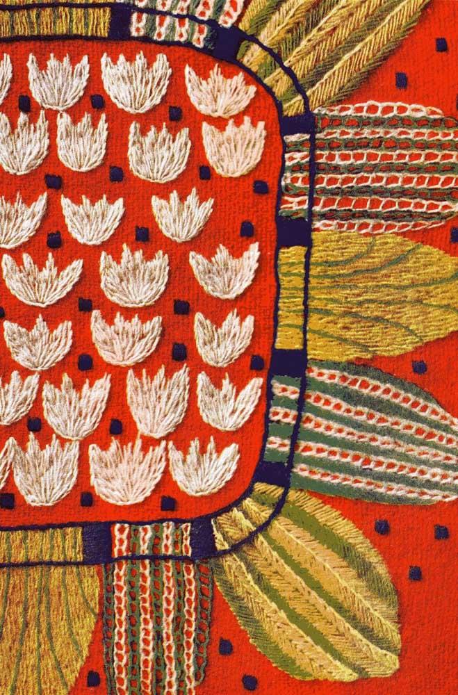 Rico em cores e detalhes: esse bordado vagonite surpreende pela força visual