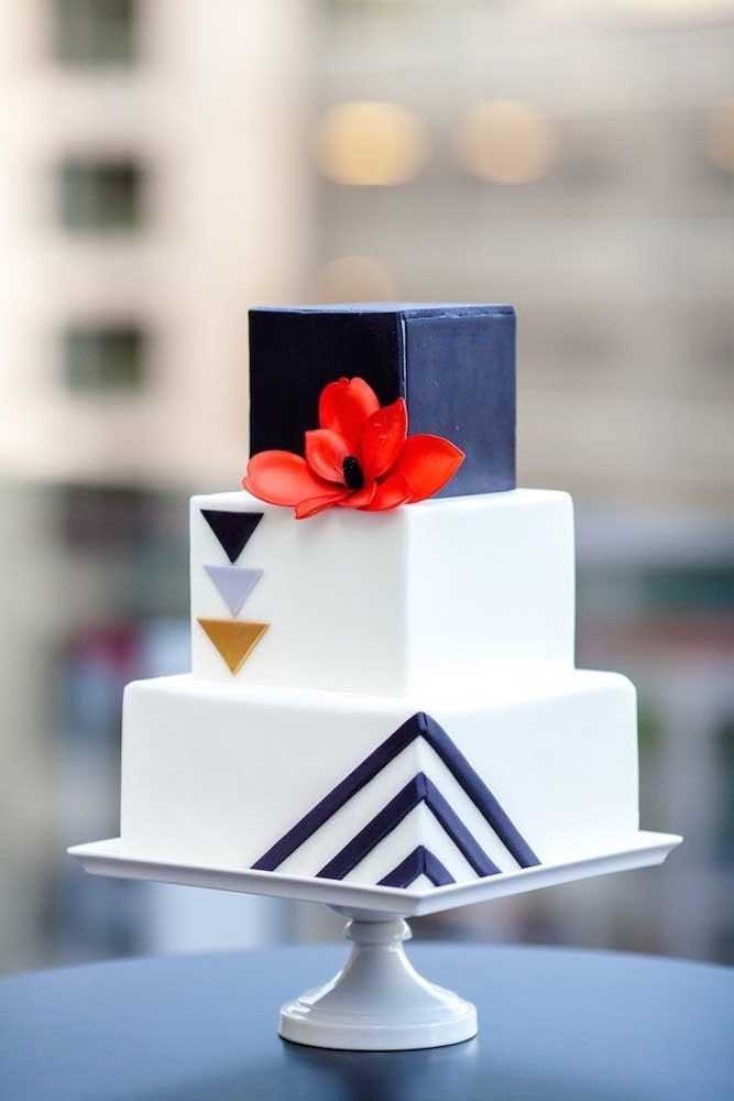 Nem dá vontade de cortar um bolo desses.