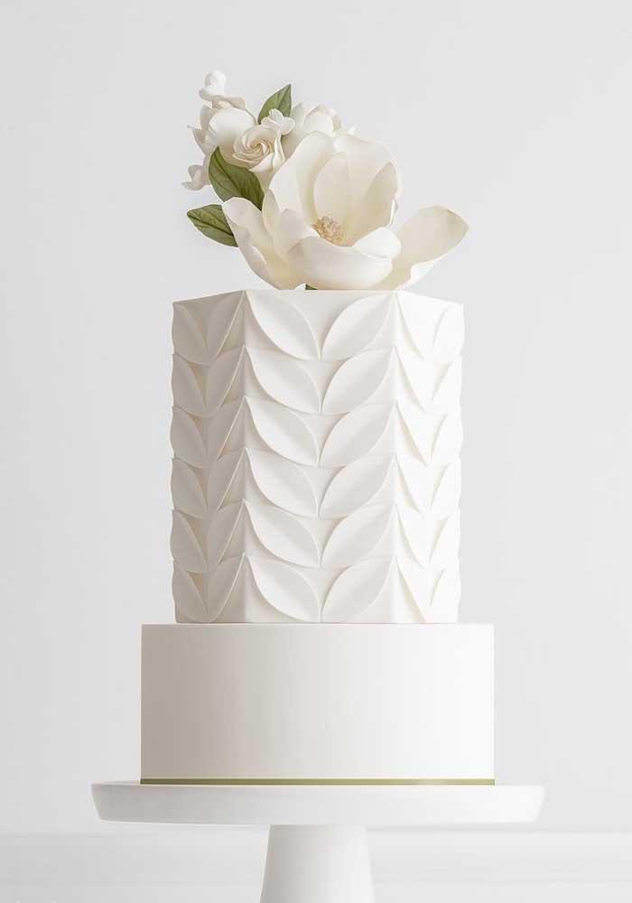 Da mesma forma acontece nesse formato de bolo diferenciado porque a base usada é de isopor.