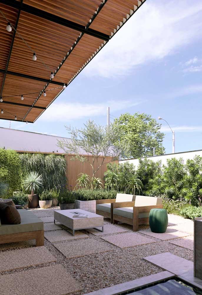 Um espaço aconchegante e confortável inspirado no conceito de jardim zen