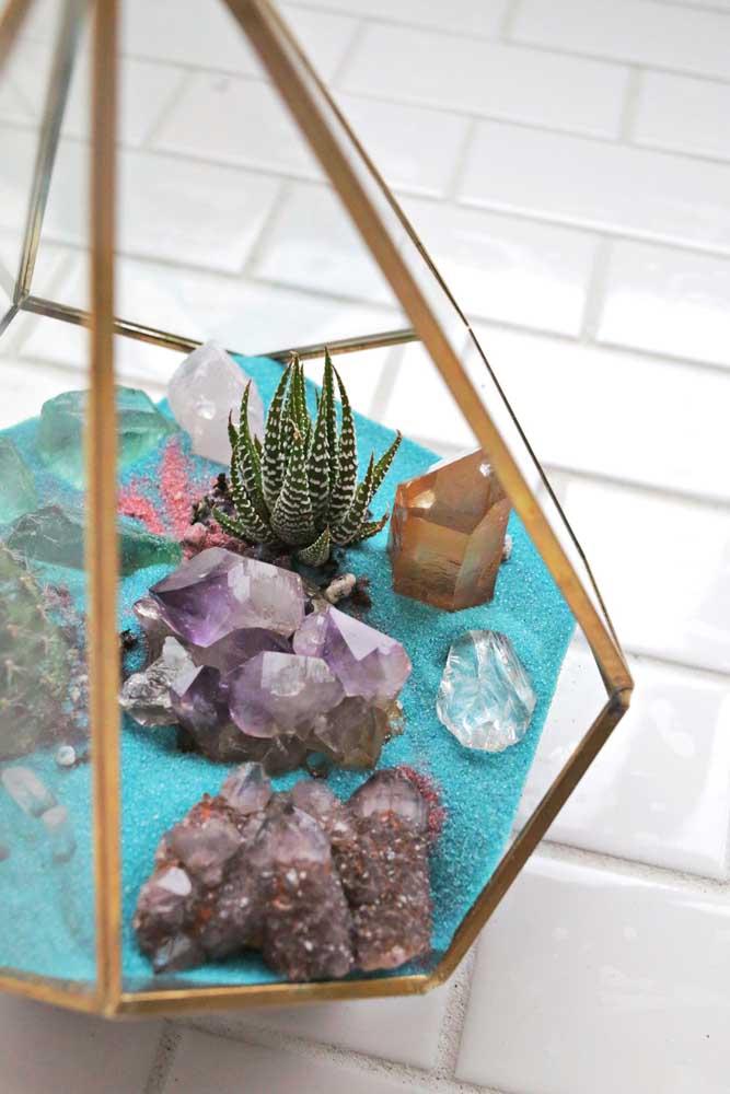 Terrário zen pequeno para transmutar as energias da casa
