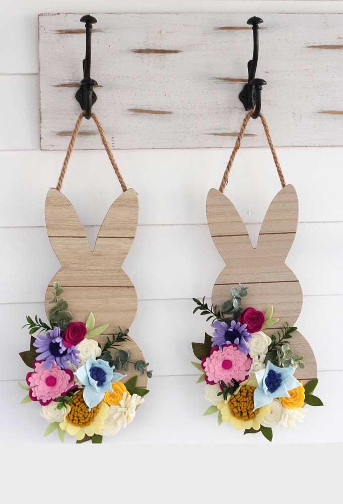 Coelhinhos floridos para decorar o lugar que você quiser da casa