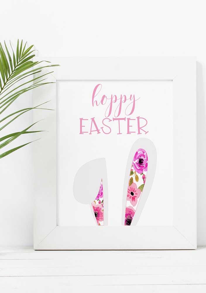 Quadrinho de Feliz Páscoa para colocar na parede