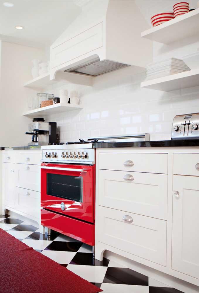 A maior parte dos eletrodomésticos vermelhos possui design retrô com funcionalidade moderna