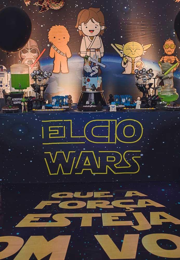 Faça com que os convidados se sintam no universo Star Wars.